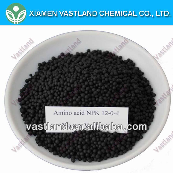 Organic and inorganic compound fertilizer supplier npk 12-0-4