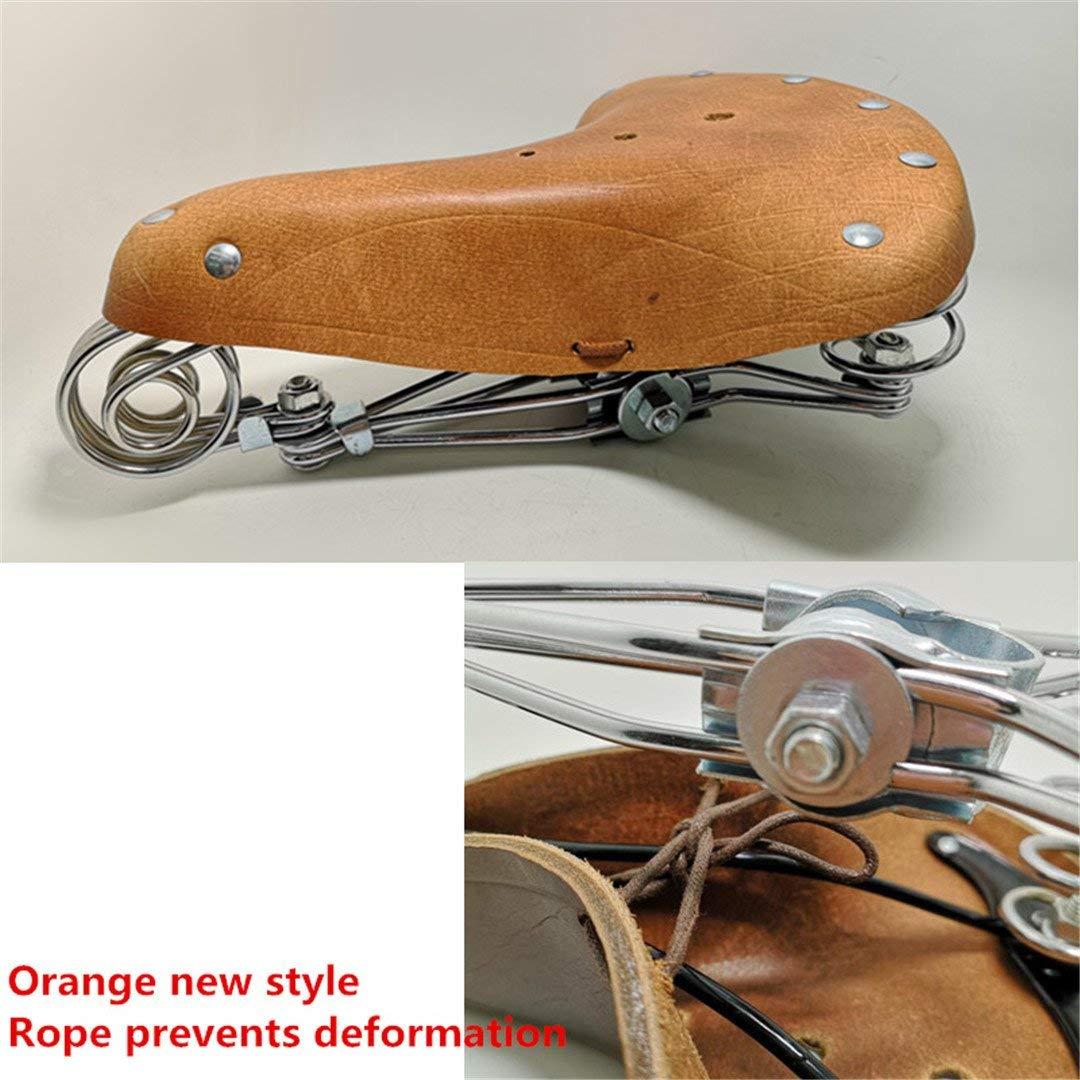 Mountainy pin Vintage Elephant Spring 100% Pure Leather Spring Saddle Old Style Bicycle Saddle Genuine Leather Saddle