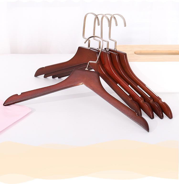 Fabbrica del cappotto dell'annata vestito di vestiti di legno appendiabiti con anti-slittamento in gomma strisce