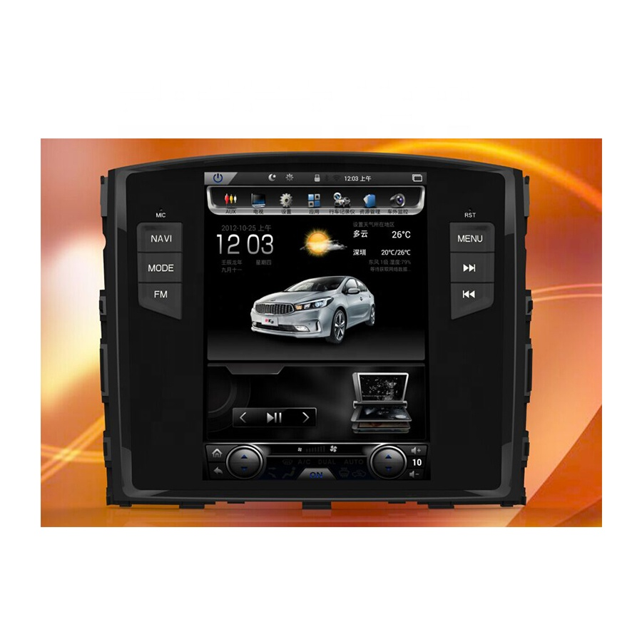 Tesla Style Pajero Android Car Dvd With Px3 Cortex-a9 Mirror Link Rds Radio  10 1 Inch Vertical Screen Autoradio Gps Navigation - Buy Tesla Style