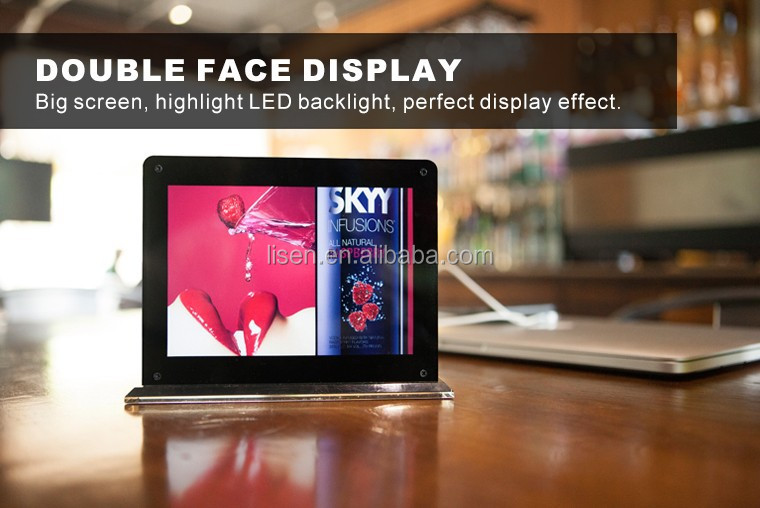 menu standby restaurant table top power bank 15000mah double sides with advertising - Flat Panel Cafe 2015
