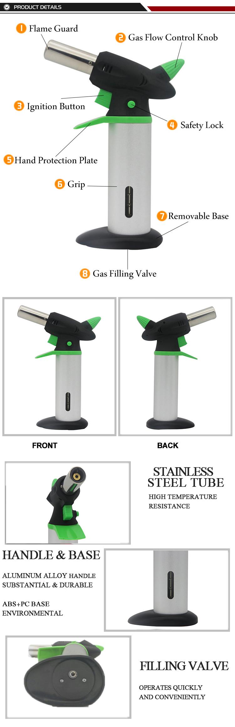 מוצרי ביקוש גבוה קמפינג גז לפיד, לפוצץ נייד גז לפיד 878A