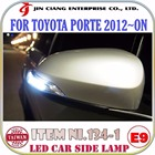 2016 Innovative Product FOR TOYOTA COROLLA FIELDER LED CAR SIDE LAMP