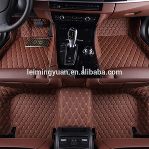 2017 Hot Style purple car mats pu leather material rhd for yaris mat