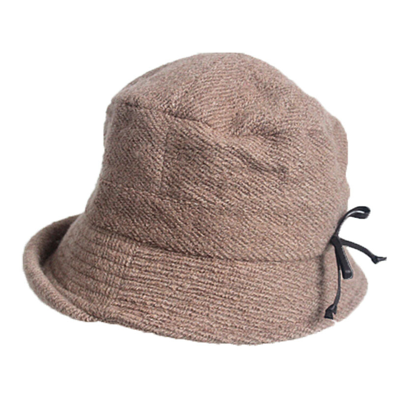 392262c5c8ac4 Get Quotations · 60% Wool Short Brim Winter Fedora Hat For Women Warm Bucket  Hat With Ear Flap
