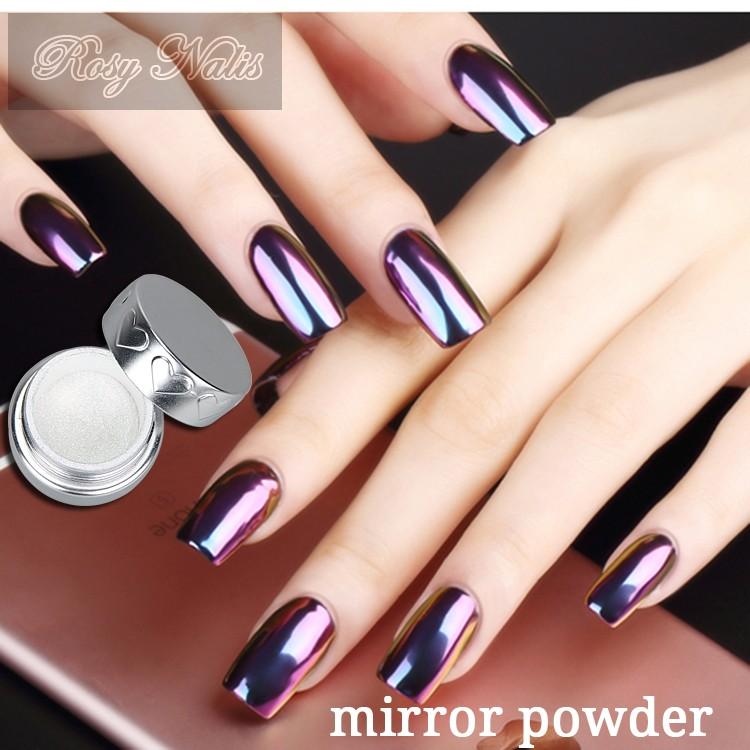 Acrílico conjuntos de espejo del cromo polvo nail suministros ...