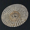 silver/gold luxury metal crystal charger plates for party wedding holiday decor