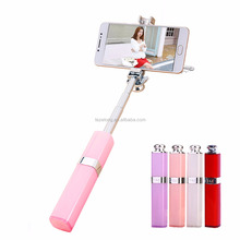 Fashion Lipstick Nude Selfies Stick Women Self Timer Handheld Monopod For Samsung Iphone LG Valentines Gift Drop Shipping