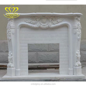 home decoration hand-carved marble Hearths fireplace for sale