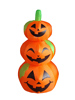 120cm/4ft small inflatable three layers orange pumpkin for Halloween decoration