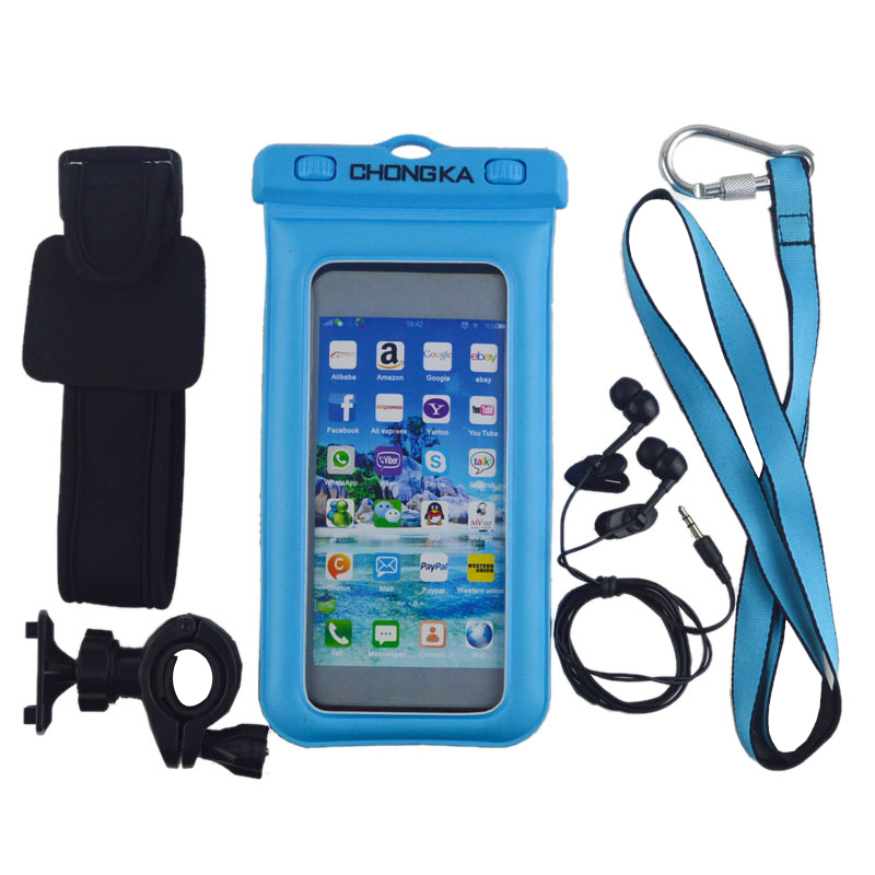 for iphone With Strap And Armband Pvc Waterproof Cases