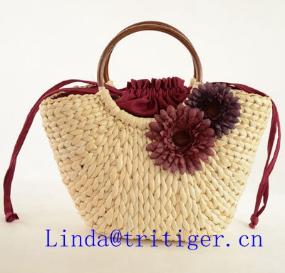 Summer Vintage Rattan Straw Kintted Bag Handbag