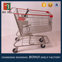 Supermarket used security electric shopping trolley cart