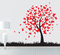 removable custom vinyl sticker family tree sticker wall art decal/sticker for home decor