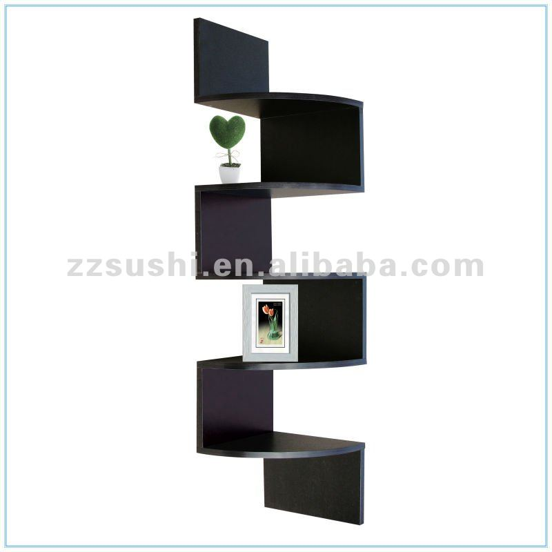 zig zag en bois coin tag re murale autres meubles en bois id de produit 668312268 french. Black Bedroom Furniture Sets. Home Design Ideas