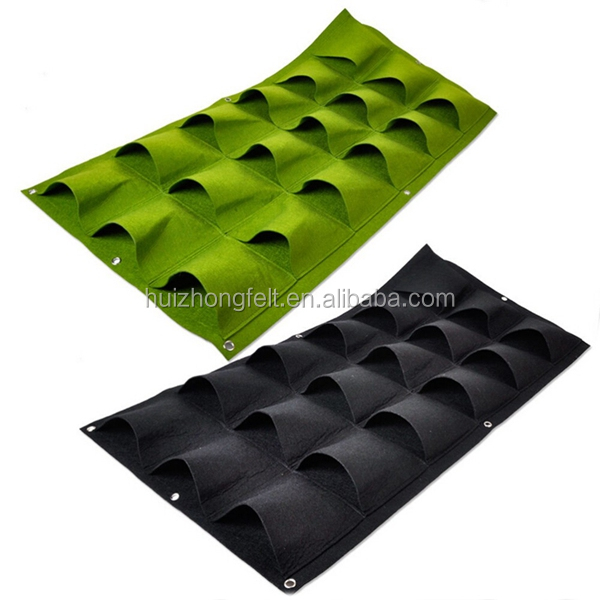 3*6 pockets Outdoor felt Wall Hanging Planter Vertical bags