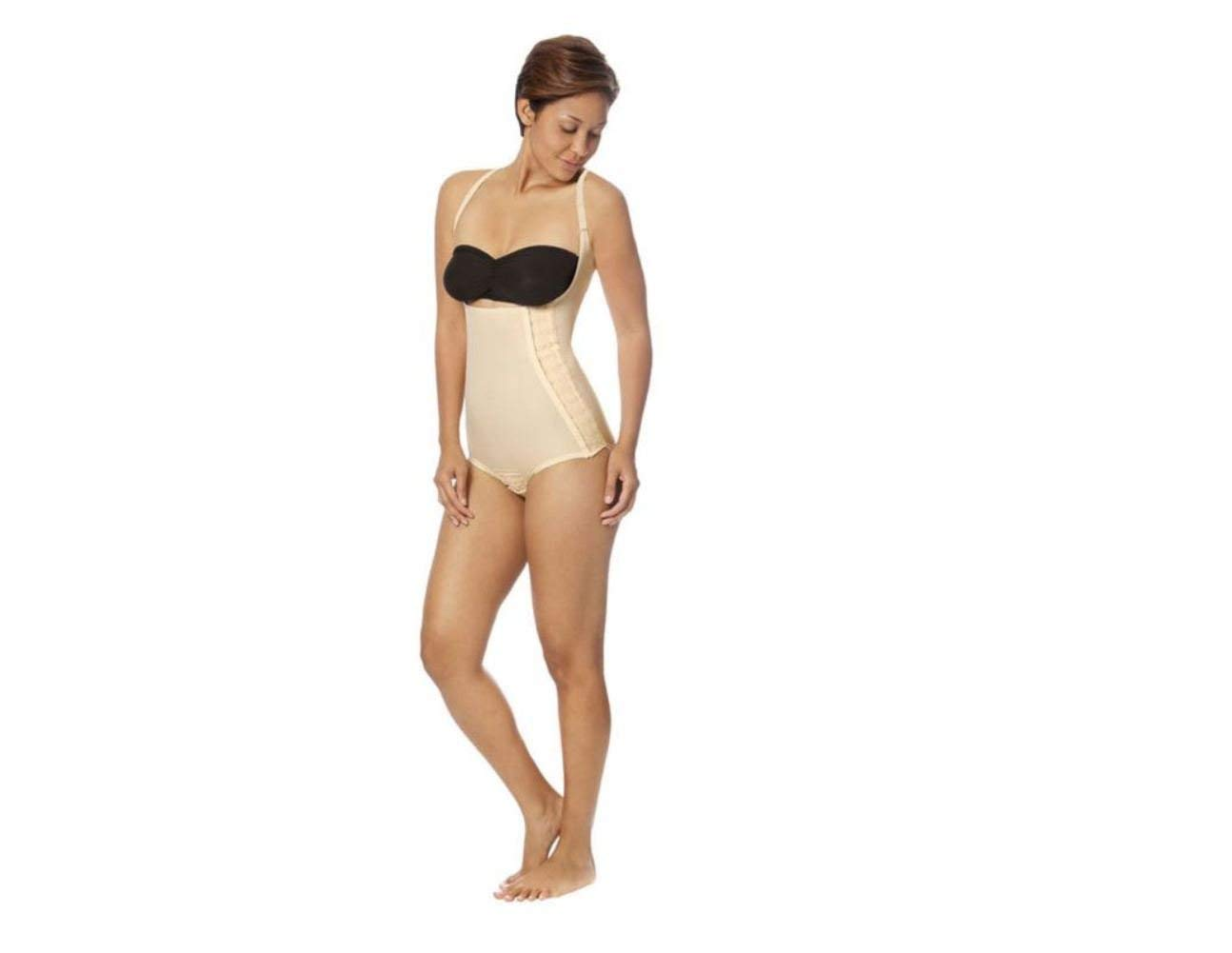 e83ab3dc8 Get Quotations · Marena Recovery SFBHA Panty-Length Girdle With High-Back- 2XL-Beige
