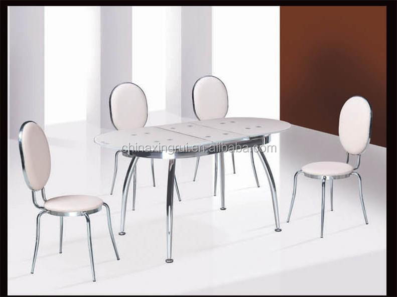 Chinese Dining Set,12mm Tempered Glass Dining Table ,round Side Table