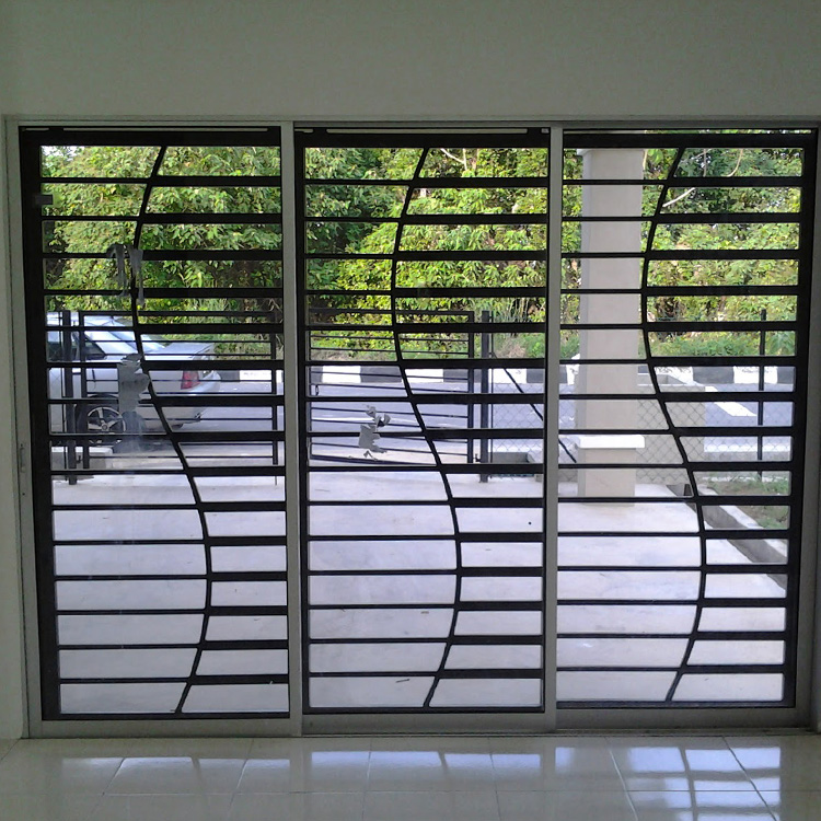 New modern exterior 3 panel metal french sliding doors prices