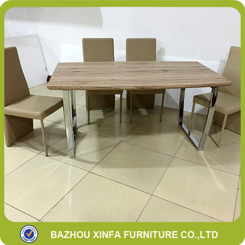 College Refectory 4 Person Modern MDF Wooden Top Furniture Dining Table