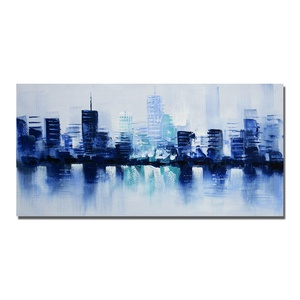 2019 Newest Handpainted Modern Abstract Cityscape Wall Decorative Painting for Home Decor