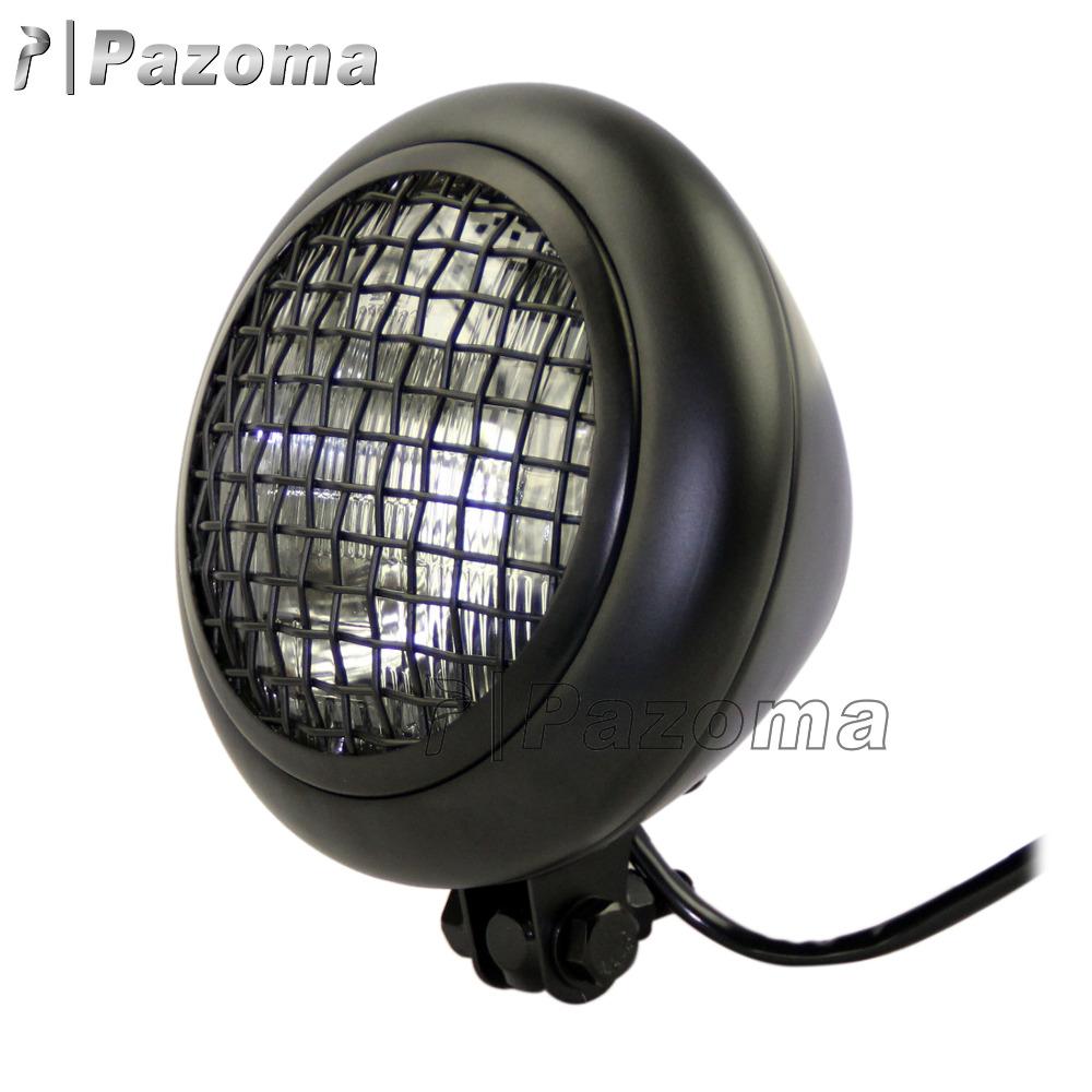 neueste zjmoto 7 7 black mesh grill h4 55 watt retro. Black Bedroom Furniture Sets. Home Design Ideas