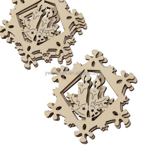 cheap Wood hanging ornament snowflake pendant snowflake ornaments