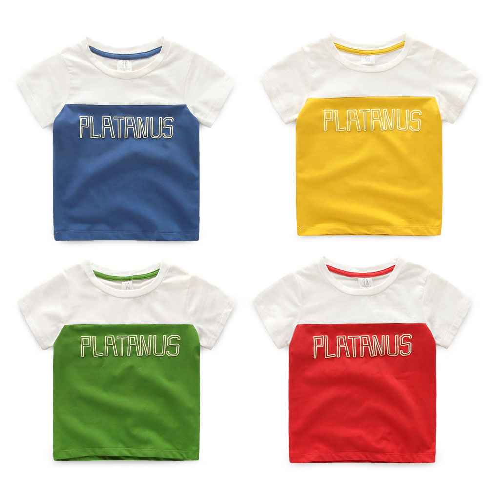 Wholesale Baby Boys Colourful Round Neck T-shirt For Summer Chinese Online Shopping
