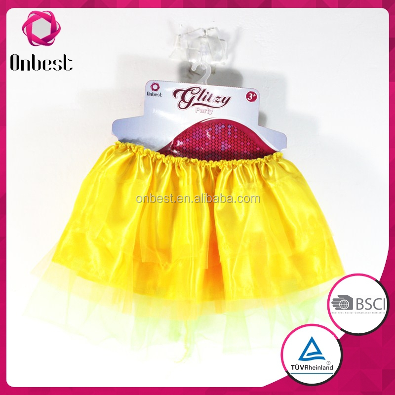 Wholesale ruffle baby girls cheap tutu plain ruffle orange tutu skirt cute flluffy light up tutu dress