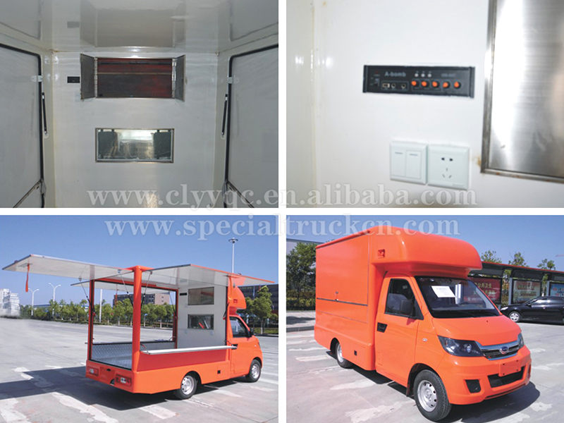 2016 Hot Sales Stainless Steel Car Food Truck Fabrication