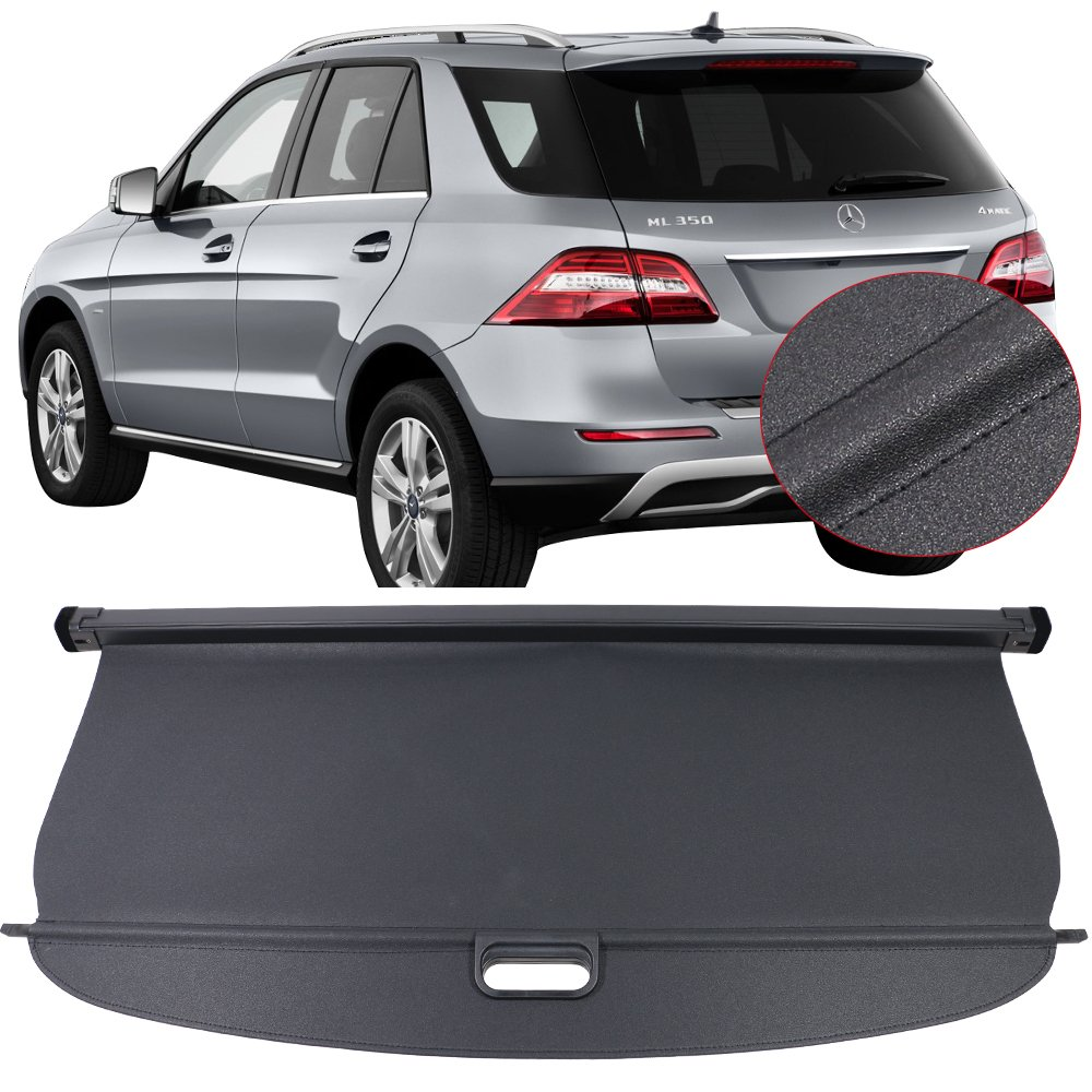 Retractable Rear Trunk Cargo Luggage Security Shade Cover Shield Benz G500 G55 G63 G550 G65 G35 Black Juntu Mercedes-Benz Accessories Cargo Cover
