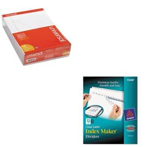 KITAVE11428UNV20630 - Value Kit - Avery Index Maker Clear Label Dividers (AVE11428) and Universal Perforated Edge Writing Pad (UNV20630)