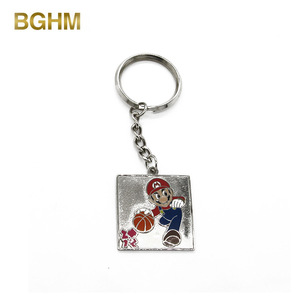 Make Your Own Logo Metal 3D Key Chain Parts, Wholesale Metal Super Mary Souvenir Custom Keychain