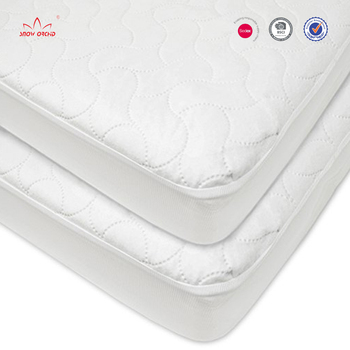 White Soft Hypoallergenic Waterproof Fitted Crib And Toddler Baby