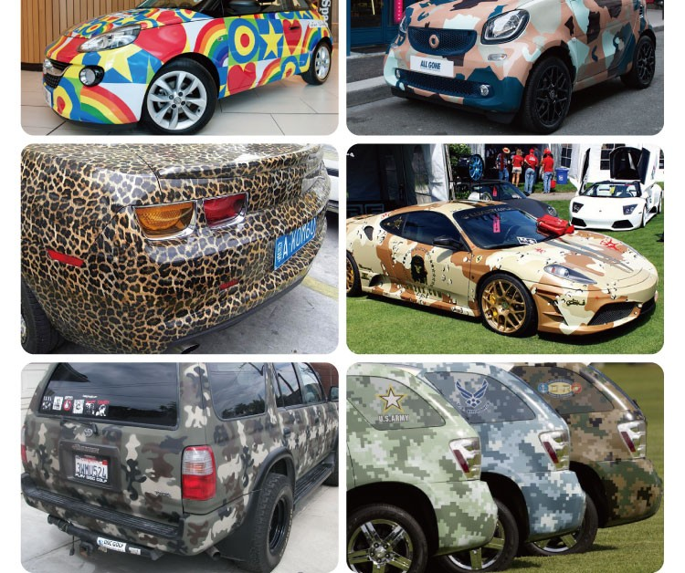 1 52x30m Car Body Sticker Design Camouflage Folie Vehicle