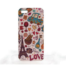 ODM design pc handphone cover , water imprint with rubber oil (BVpassed)