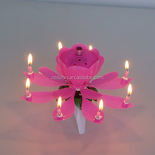 electric birthday candle rotating musical birthday candle, happy birthday flower candle