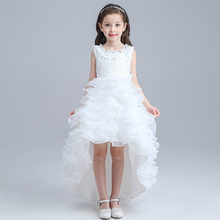 Red High Low Pageant Dress for Girl Party Ball Gowns White First Communion  Princess Dresses Kids 0e093240ce0d