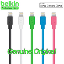 REFUSE FAKE!  Belkin Original MFi Certified 8-pin Lightning Cable (charge+sync) with Package for iPhone6 Free Shipping Blue 1.2m