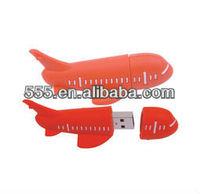 Customized PVC airplane usb 2.0 flash drive