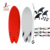 Customized Decorative China Surfboard manufacturers swimming starting board ,water board surf,surfing longboard RED surfboard
