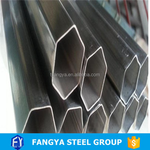 hot rolled spcc/Q195/Q215/Q235/Q345 Welded mild carbon steel hexagonal tube/pipe