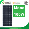 Bluesun hot sale 100watt monocrystalline solar panel 100w mono solar module in china