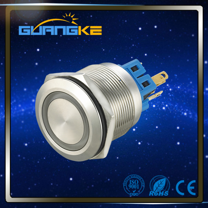 Guangke IP67 IP65 CE RoHS magnetic switch push button,8mm push button switch