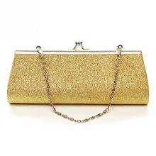 Fashion Women Glitter Gold Silver Colors Clutch Purse Evening Party Wedding  Banquet Handbag Shoulder Bag( 979e32dd4c03