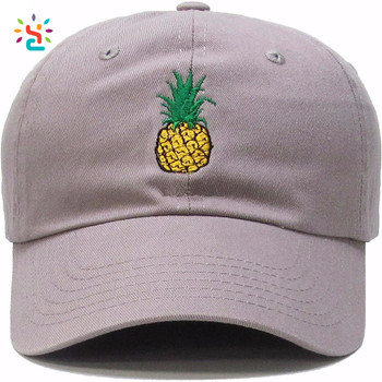 84a4fb76829b5 New Fashion pineapple dad hats custom embroidery logo athletic distressed  dad hats for wholesale