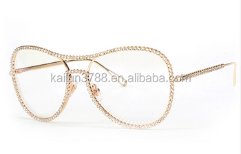 2017 Kailun Beautiful Young Large Frame Rhinestones Eyewear Frames