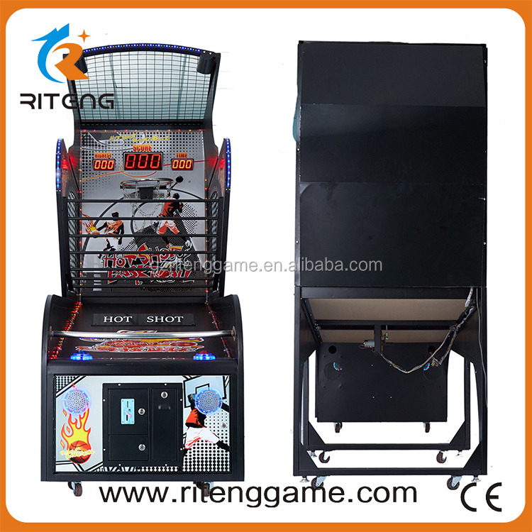 Coin indoor amusement street basketball arcade game machine mini shooting basketball game machine