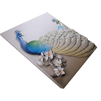 Factory Direct Peacock Resin Sale Wall Art