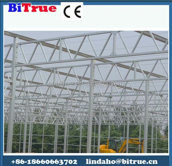galvanized steel greenhouse structure